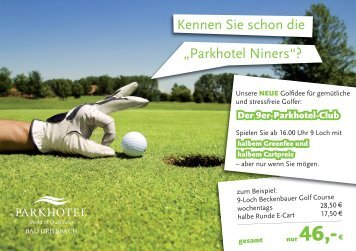 PK Golf Mailing.indd - Parkhotel Bad Griesbach World of Quellness