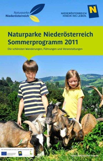 Naturparke Niederösterreich Sommerprogramm 2011