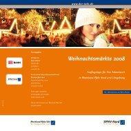 Weihnachtsmärkte 2008 - Rheinland-Pfalz-Takt
