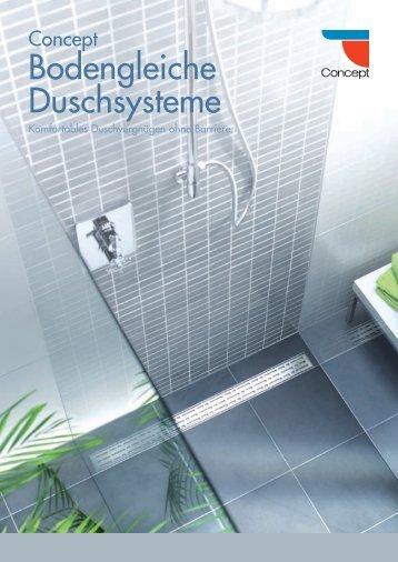 Concept bodengleiche Duschsysteme - Wullbrandt + Seele