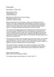 Press release Bad Salzuflen, 3 March 2011 Blanke textech GmbH ...