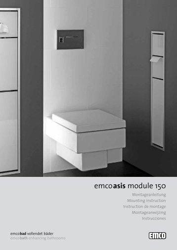 emcoasis module 150 - Emco Bad GmbH & Co. KG