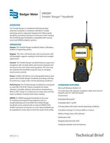 orion - Badger Meter, Inc.