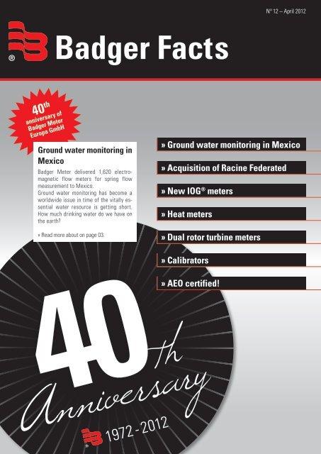Badger Facts - Badger Meter Europa GmbH