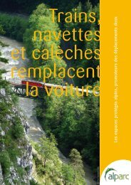 Les espaces protégés alpins, promoteurs des déplacements doux