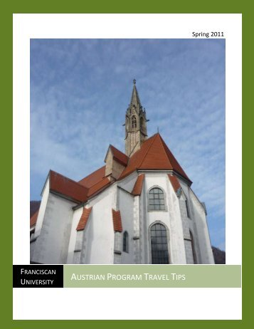 Austrian Program Travel Tips - Franciscan University of Steubenville