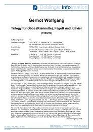 Gernot Wolfgang Trilogy für Oboe (Klarinette), Fagott und Klavier