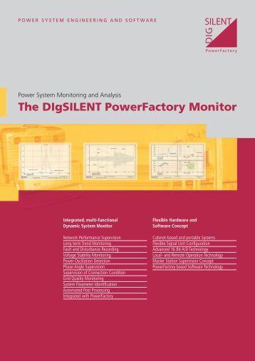 PowerFactory Monitor Brochure - DIgSILENT