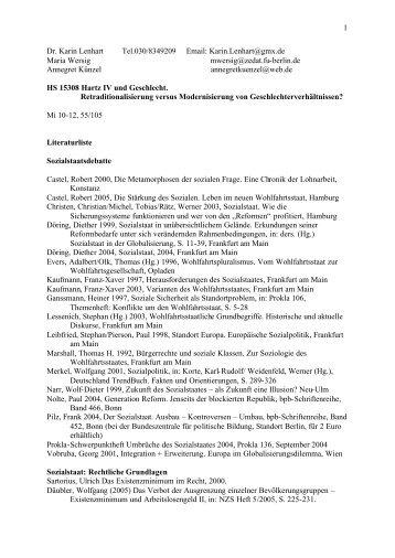 Literaturliste (pdf) - Userpage