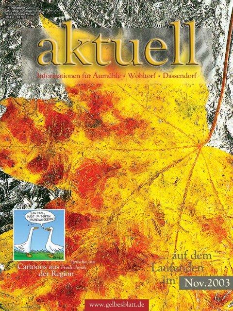 AWA11001 Aum.hle Wohltorf Aktuell 11/0, S - Aktuelles aus dem Kreis