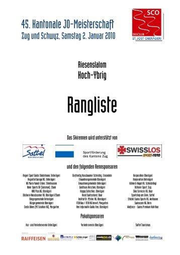 Kant. Meisterschaft JO und Mini RS - Skiclub Feusisberg