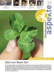 Ausgabe 01/2013 - Aspekte Steinhausen - Sitemap