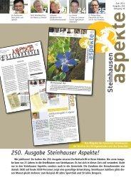 Ausgabe 06/2011 - Aspekte Steinhausen