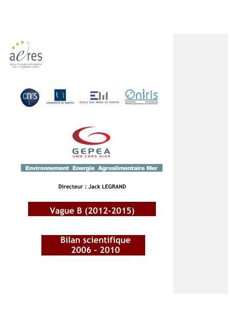 Organigramme Scientifique Le Gepea