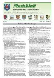 der Gemeinde Südeichsfeld - web2 @ vs158152.vserver.de