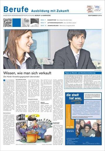 Berufe Ausbildung mit Zukunft - Frankfurter Neue Presse