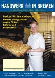 Backen für den Kirchentag - Handwerkskammer Bremen