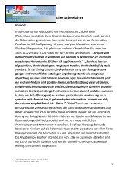 Geschichte Winterthurs im Mittelalter - Winterthurer Fortbildungskurs