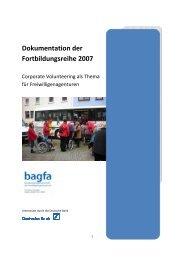 Dokumentation der Fortbildungsreihe 2007: