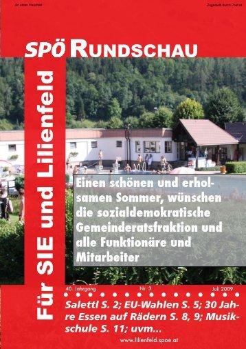 30 Jah- re Essen auf Rädern S. 8, 9; Musik - SPÖ Lilienfeld