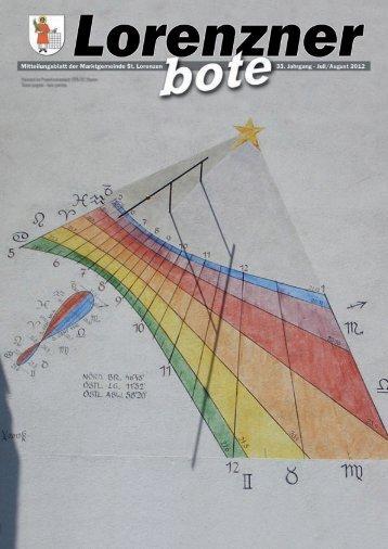 Lorenzner Bote - Ausgabe Juli/August 2012 (4,35