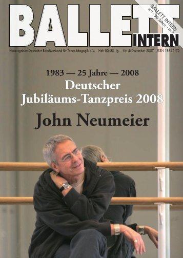 John Neumeier - Deutscher Berufsverband für Tanzpädagogik