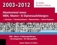Diplomausbildungen - St. Galler Business School