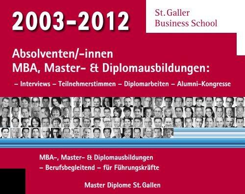 Diplomausbildungen - St. Galler Business School