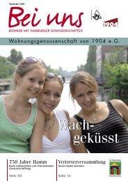 Bei uns 03/2006 - Wohnungsgenossenschaft von 1904 eG