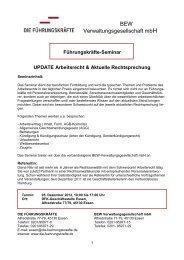 Führungskräfte-Seminar UPDATE Arbeitsrecht & Aktuelle  ...