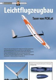 Leichtflugzeugbau Taser von PCM.at - Podivin Composite Modellbau