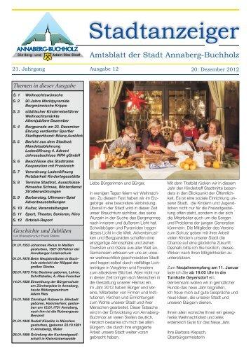 aktuelles Amtsblatt der Stadt Annaberg-Buchholz