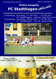Stefan Kuhnert Lothar Neudecker - FC Stadthagen