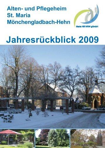 Jahresrückblick 2009 - Alten- und Pflegeheim St. Maria