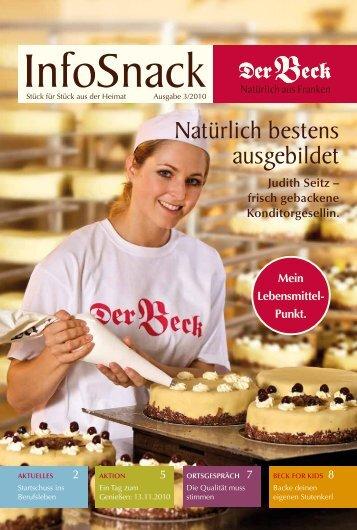 Judith Seitz – frisch gebackene Konditorgesellin. - Der Beck