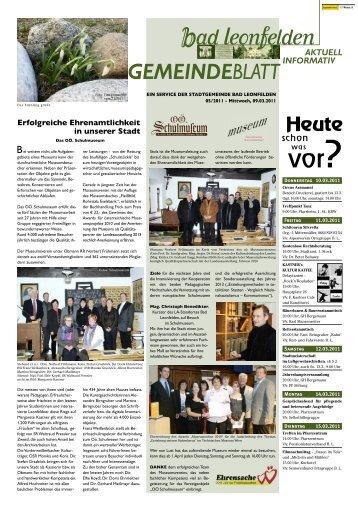 Erfolgreiche Ehrenamtlichkeit in unserer Stadt - Bad Leonfelden