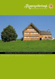 Ferienwohnungen - Appenzellerland Tourismus