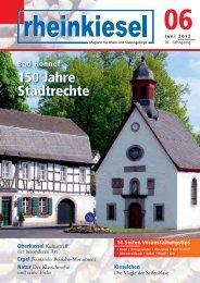 Bad Honnef 150 Jahre Stadtrechte Bad Honnef 150 ... - Rheinkiesel