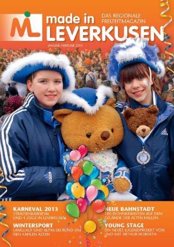 Ausgabe 1/13 - made in LEVERKUSEN
