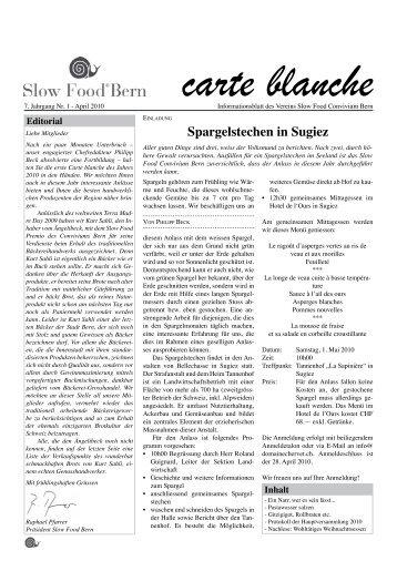 fduwh eodqfkh - Slow Food Convivium Bern