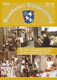 seit dem Neuanfang 1969 - Hambacher Brennesselkerwe