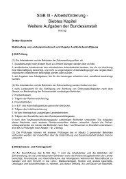 SGB III - Arbeitsförderung - Siebtes Kapitel Weitere ... - DIM-Net eV