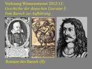 Vom Barock zur Aufklärung V - Heinrich Detering