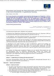 Konvention zum Schutze der Menschenrechte und ... - DIM-Net eV