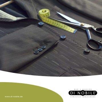 DI Nobile Image Broschüre als Download - Di Nobile Maßkonfektion ...