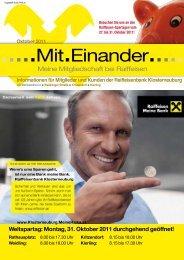 Weltspartag: Montag, 31. Oktober 2011 ... - MeineRaika.at