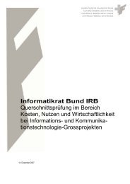 Informatikrat Bund IRB - EUROSAI IT Working Group