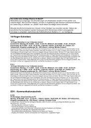10-Finger-Schreiben EDV - Kommunikationstechnik - Dießen