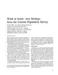 Work at home - Bureau of Labor Statistics