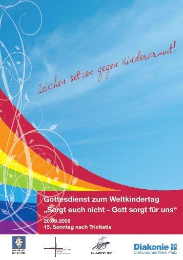 Sorgt euch nicht - Gott sorgt für uns - Diakonisches Werk Pfalz